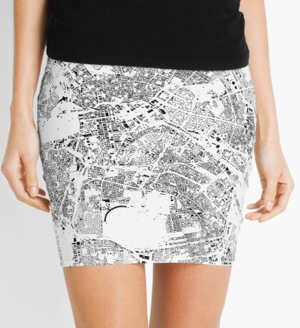 Berlin Map Schwarzplan Only Buildings Urban Plan Mini Skirt