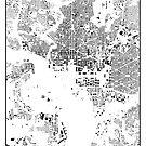 Washington Karte Schwarzplan Nur Gebäude Urban Plan von HubertRoguski
