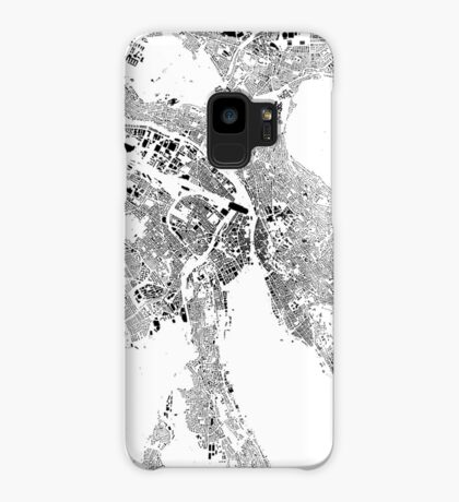 Zurich Map Schwarzplan Only Buildings Urban Plan Case/Skin for Samsung Galaxy
