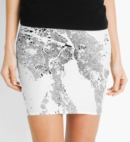 Zurich Map Schwarzplan Only Buildings Urban Plan Mini Skirt