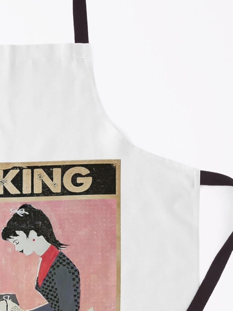 Alternate view of baking because murder is wrong Apron