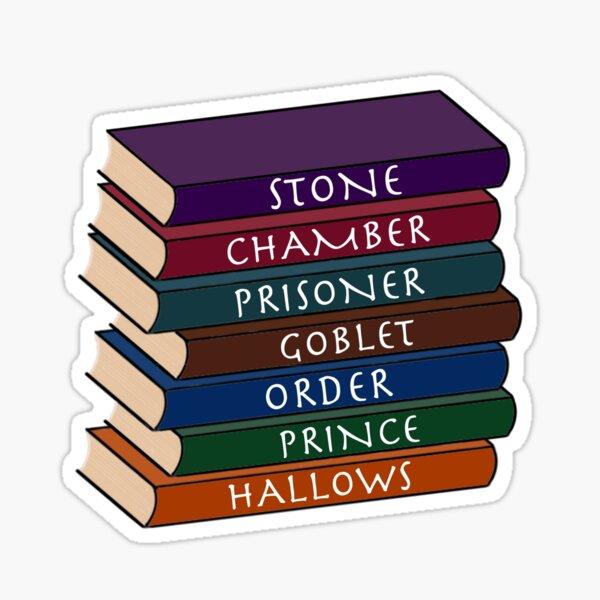 Pila de libros HP Pegatina