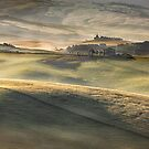 Val DOrcia pastures by Vicki Moritz