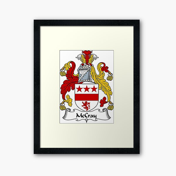 McCray Coat of Arms / McCray Family Crest Framed Art Print
