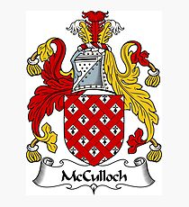 McCulloch Coat of Arms / McCulloch Family Crest Photographic Print