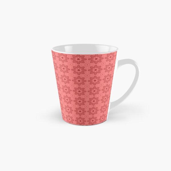 Floral Spiral Red Tall Mug