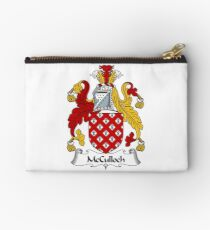 McCulloch Coat of Arms / McCulloch Family Crest Zipper Pouch