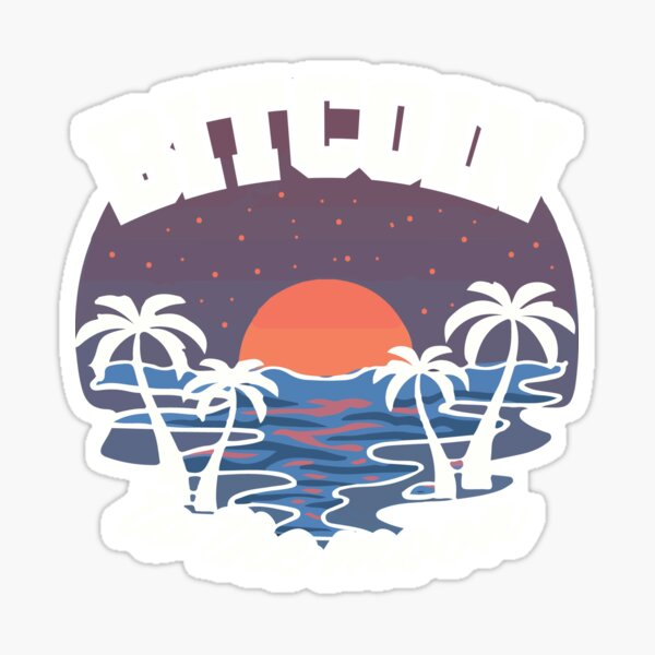 Bitcoin to the Moon, Fomo Hodl Crypto Sticker