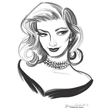 Sketch of Lauren by jothezette