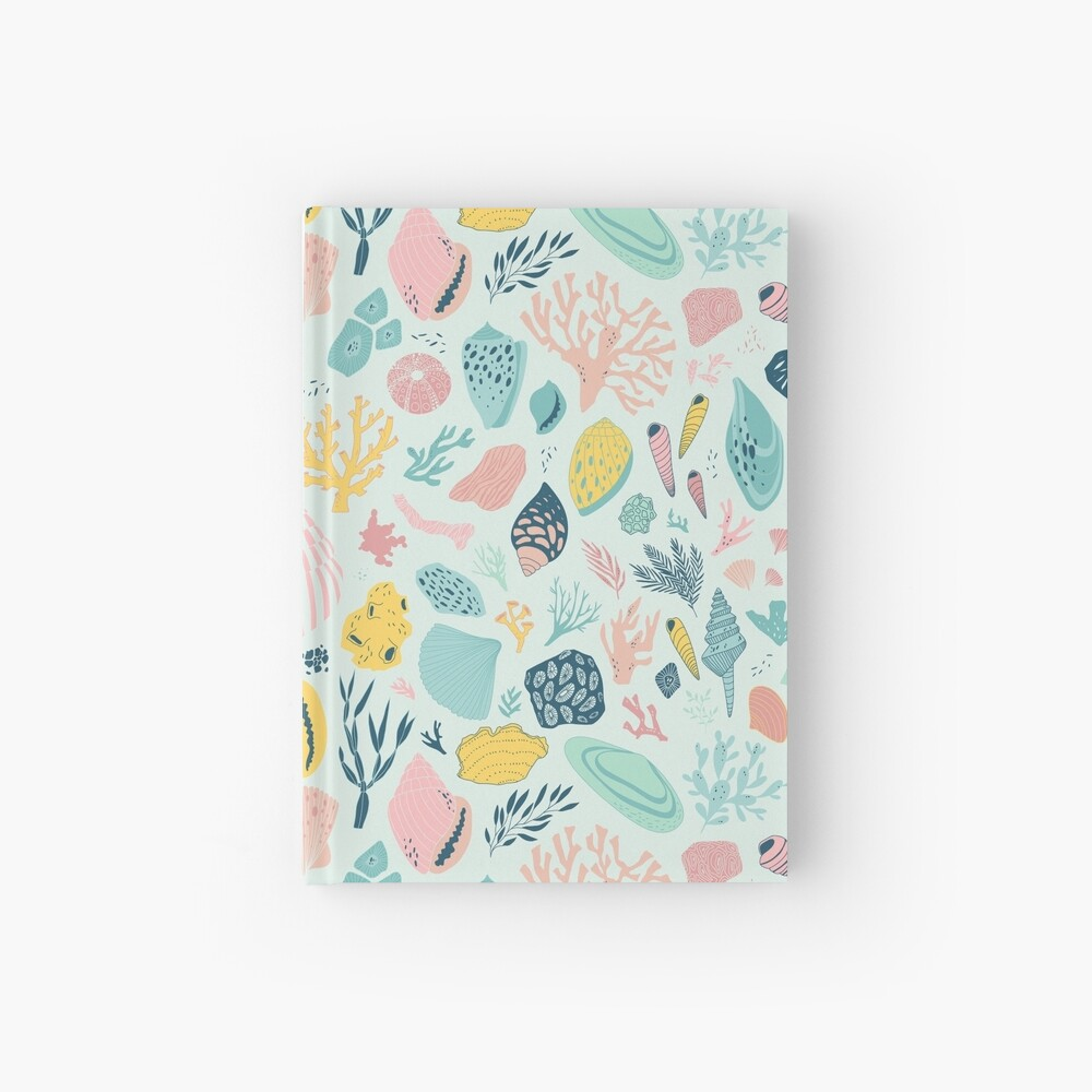 Colorido patrón feliz para los amantes del mar! Cuaderno de tapa dura