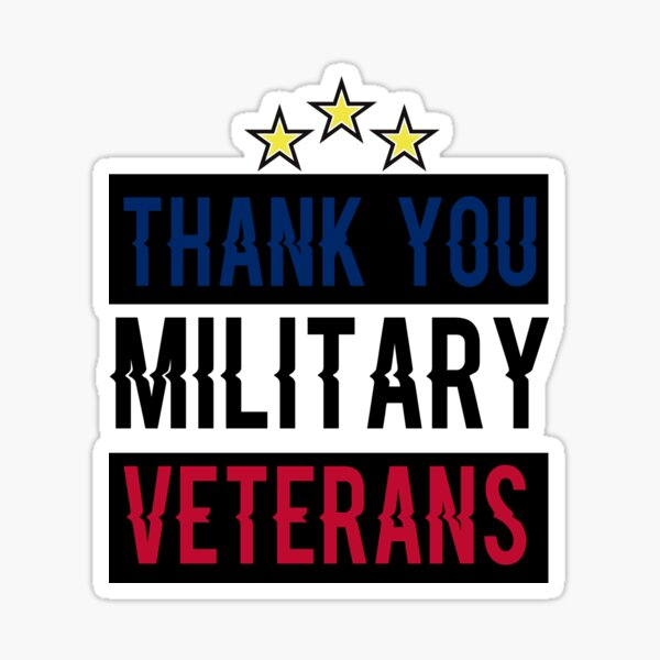 happy veterans day Thank you Military Veterans, gift idea for veterans day, holiday national and international day,11 November Sticker