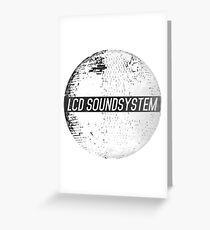 LCD Soundsystem Greeting Card