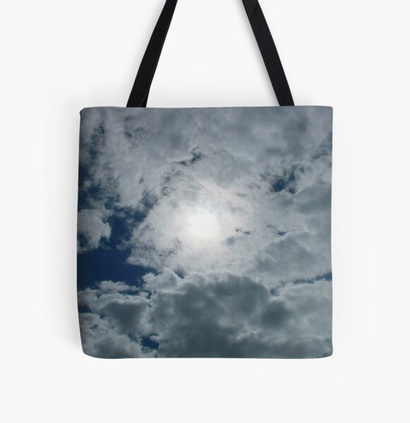 Sky, Sun, and Clouds All Over Print Tote Bag