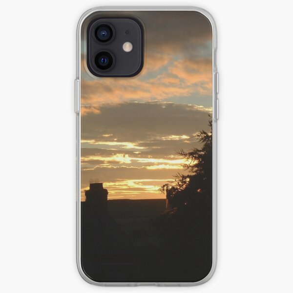 Sunset Over Houses iPhone Soft Case