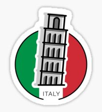 Around the world - Italy Sticker