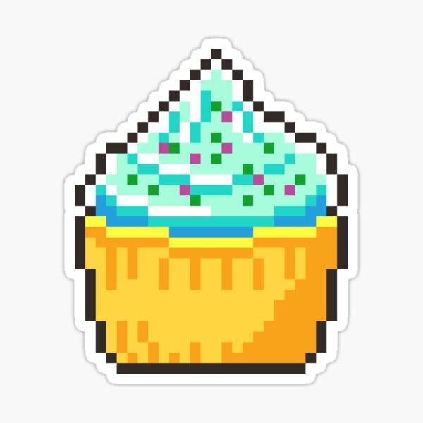 Pixel Cupcake Sticker