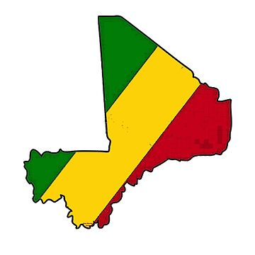 Mali Map With Malian Flag by Havocgirl