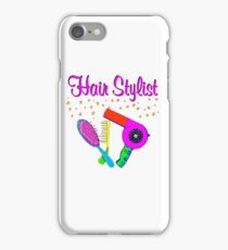 PINK AND GOLD STAR HAIR STYLIST iPhone Case/Skin