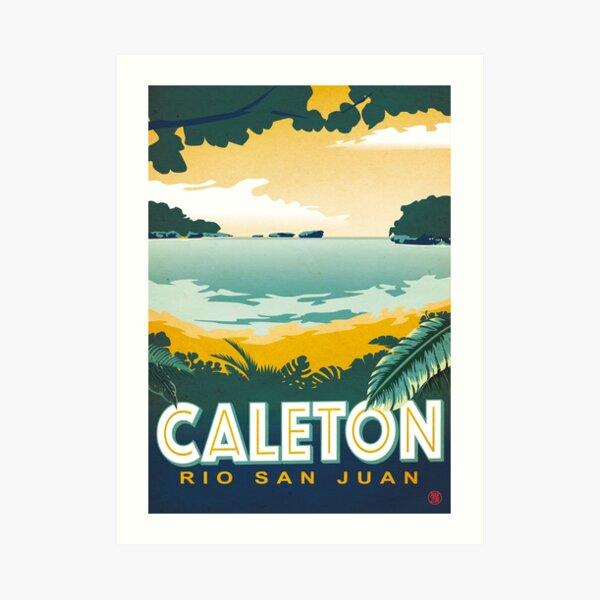 Plage Caleton Vintage Poster Impression artistique