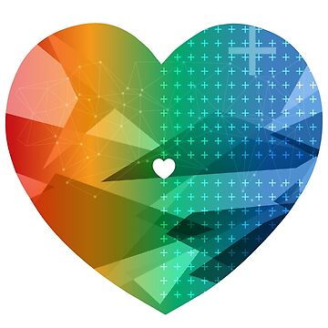 Rainbow Heart Love Colour by tommyrockett