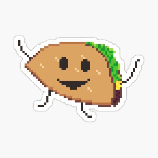 Happy Pixel Taco Sticker