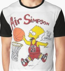 AIR SIMPSON-IT'S IN THE SHOES Graphic T-Shirt