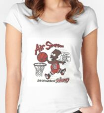 "AIR SIMPSON BLACK BART ""YOU CAN'T TOUCH THIS"" Women's Fitted Scoop T-Shirt"