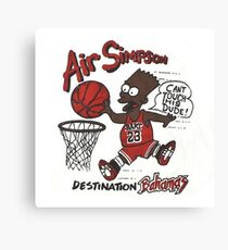 "AIR SIMPSON BLACK BART ""YOU CAN'T TOUCH THIS"" Canvas Print"