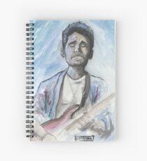 Cuaderno de espiral John Mayer en acuarela.