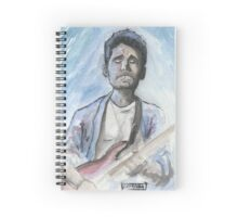 John Mayer in watercolor.  Spiral Notebook