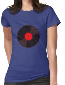 shattered vinyl Womens Fitted T-Shirt