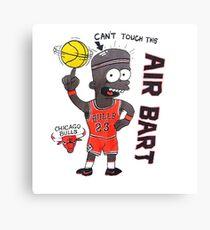 AIR BART CHICAGO BULLS Canvas Print