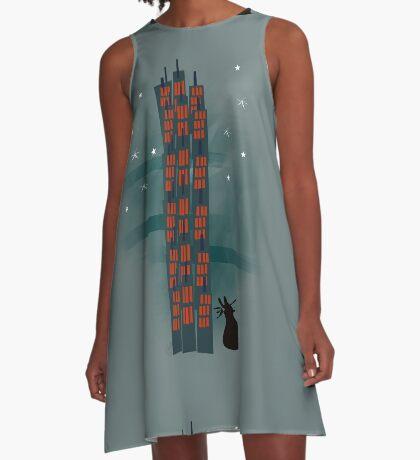 Urban Cat A-Line Dress