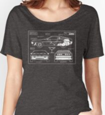 Back to the Future DeLorean blueprint Women's Relaxed Fit T-Shirt