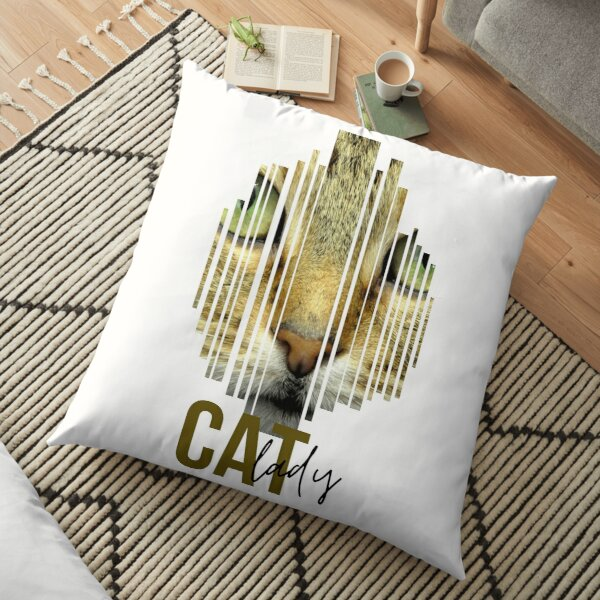 Find Your Thing Cat Lady Gift Floor Pillow