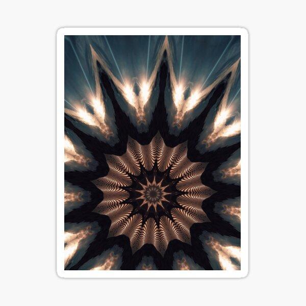 Spiral kaleidoscope art Sticker