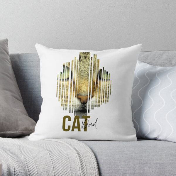 Find Your Thing Cat Dad Gift Throw Pillow