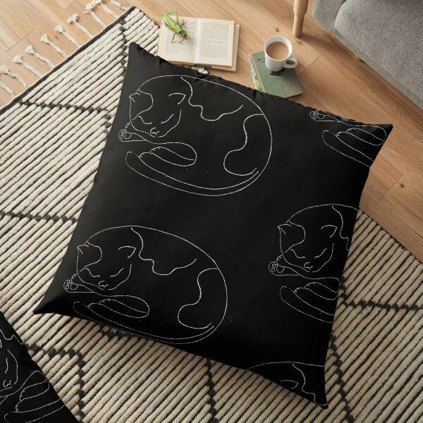 Black Cat  Floor Pillow