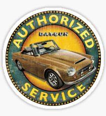 Datsun 2000 Fairlady Authorized service Sticker