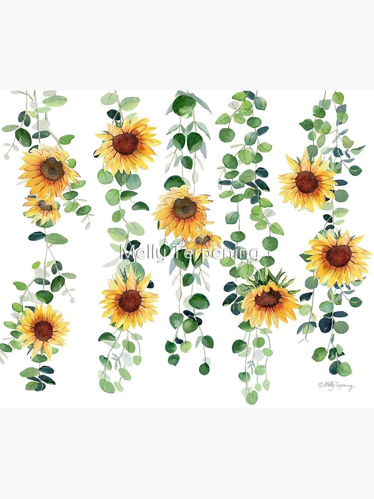 Eucalyptus and Sunflowers Garland by MellyTerp