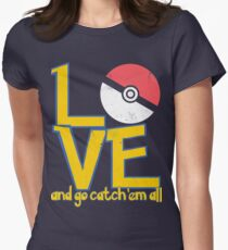 Poke-Love #3-b Women's Fitted T-Shirt