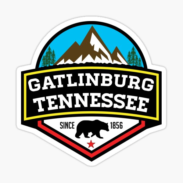 GATLINBURG TENNESSEE GREAT SMOKY MOUNTAINS PARC NATIONAL FUMÉES Sticker