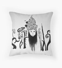 Ink Lady Throw Pillow