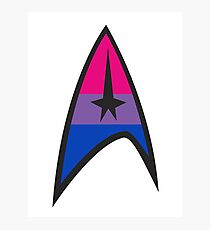Bisexual Star Trek Emblem Photographic Print