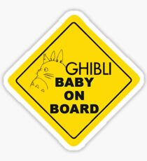 Ghibli Baby On Board Sticker