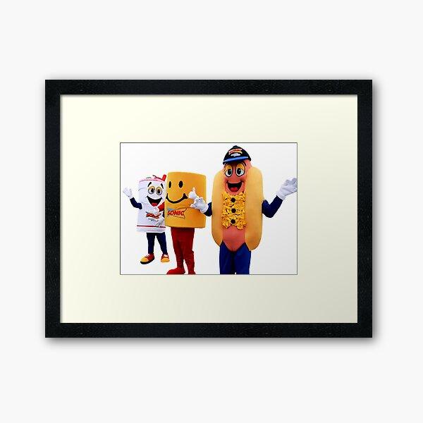 mascot fast food Framed Art Print