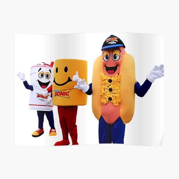 mascot fast food Poster