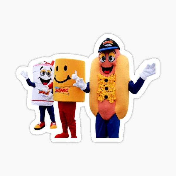 mascot fast food Sticker