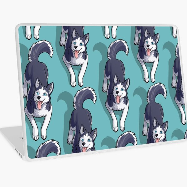 Husky Sitting Laptop Skin