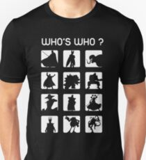 Who's who? (bad guys edition) Unisex T-Shirt